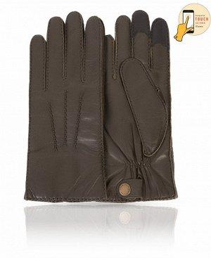 Перчатки Верх: Натуральная кожа ягненка Подкладка: 100% шерсть Бренд: MICHEL KATAN? Производство: Венгрия Цвет: Темно-оливковый  Необычный и сдержанный темно-оливковый цвет будет отлично смотрет