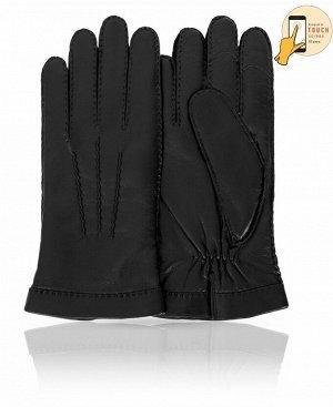 Перчатки Верх: Натуральная кожа ягненка Подкладка: 100% шерсть Бренд: MICHEL KATAN? Производство: Венгрия Цвет: Черный  Мужские кожаные перчатки на шерстяной подкладке должны быть прежде всего у