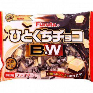 Шоколадные конфеты FURUTA с двумя вкусами шоколада:молочный и белый 185 гр/32