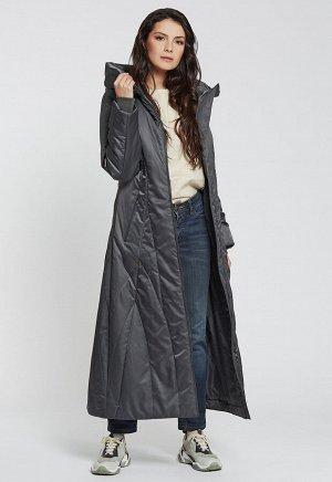 2104 серый Приталенноедлинноетёплое и очень женственное пальто с капюшоном на кулиске от российского производителя D'imma Fashion Studio. Широкий размерный ряд, в наличии больш