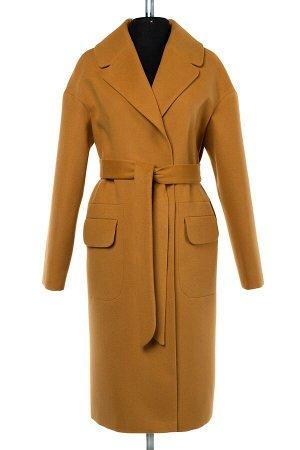 Пальто женское демисезонное (пояс) цвет camel