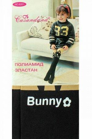 """Детские капроновые колготки """" Casandana 6201-1 """" бежевый заяц р: 4-6 лет"""