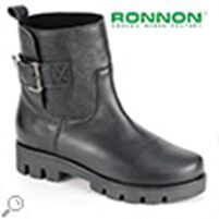Полусапоги  натуральная кожа Ronnon Style 824101 черный