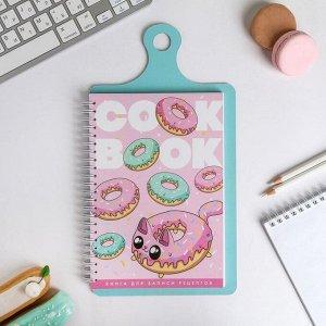 "Кулинарная книга на доске ""Cook book пончики"""