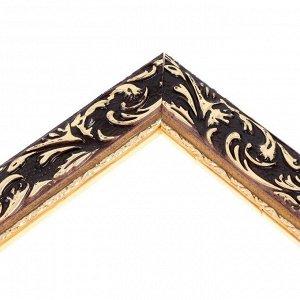 Рама для картин (зеркал) 80 х 100 х 4 см. дерево. «Версаль». цвет золотой