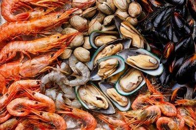 Мясо, рыба, птица, морепродукты, сыры! Быстрая доставка! — Водоросли, моллюски, морепродукты — Закуски из морепродуктов