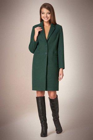 Пальто Пальто Andrea Fashion AF-56 бутылка  Состав ткани:Пальто: ПЭ-90%; Спандекс-2%; Шерсть-8%; Подкладка: ПЭ-100%;  Рост: 170 см.  Пальто классическое, приталенное, длиной чуть выше колена, с проре