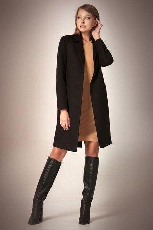 Пальто Пальто Andrea Fashion AF-56 черное  Состав ткани:Пальто: ПЭ-90%; Спандекс-2%; Шерсть-8%; Подкладка: ПЭ-100%;  Рост: 170 см.  Пальто классическое, приталенное, длиной чуть выше колена, с прорез