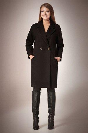 Пальто Пальто Andrea Fashion AF-57 черное  Состав ткани:Пальто: ПЭ-90%; Спандекс-2%; Шерсть-8%; Подкладка: ПЭ-100%;  Рост: 170 см.  Стильное молодежное пальто прямого силуэта, длиной выше колена, со