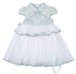 Платье в восточном стиле с короткими рукавами