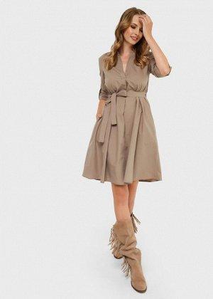 """Платье """"Марика"""" для беременных и кормящих; бежевый"""