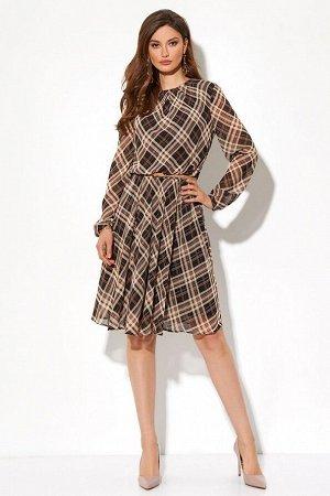 Платье Состав 100% ПЭ Платье (длина до талии - 46 см, длина юбки - 59 см, длина рукава - 61 см, цвет: мультиколор) - полуприлегающего силуэта, отрезное чуть ниже талии; - полочка цельная, по линии гор