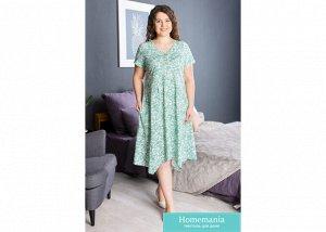 Платье Веточки Цвет Зелёный (54)