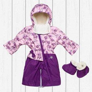 Комбинезон - трансформер фиолетовый (зима) арт.30-012-фиолетовый