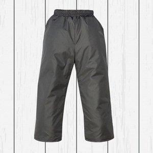 Брюки серые на поясе с утеплителем арт.10-003-серый