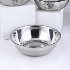 Набор посуды, 3 предмета: дуршлаг 21х8 см, салатник 26х8,5 см, салатник 28х8 см