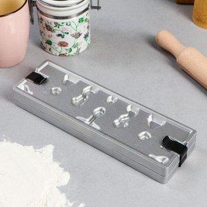 Форма для леденцов, литой алюминий, 6 фигур