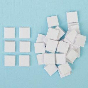 Липучка на клеевой основе «Квадрат», набор 48 шт., размер 1 шт: 1,5?1,5 см