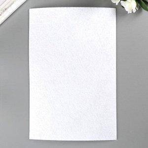 """Фетр """"BLITZ"""" 2.2 мм, жёсткий 20х30 см ± 0,2 см (набор 5 шт) белый"""