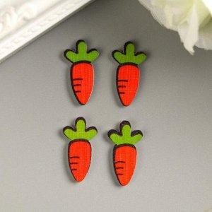"""Декор для творчества дерево """"Морковка"""" набор 20 шт 1,8х1 см"""
