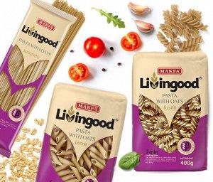 LIVINGOOD oat pasta (овсяные) Fusilli (Спираль) 400г
