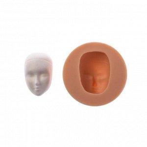 """Молд силикон для полимерной глины №529 """"Голова с чертами лица"""" 3х2,2 см  МИКС"""