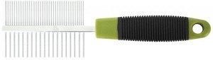 Расческа двухсторонняя с металлическими зубьями 18см ТК9652 № 1