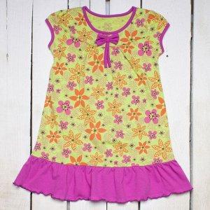 Платье разноцветное с принтом арт.ПЛ-703