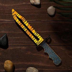Сувенир деревянный «Штык нож», жёлтый леопард