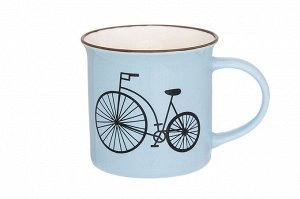 """Кружка 210 мл 11*7,5*7,5 см """"Велосипед"""" голубая"""
