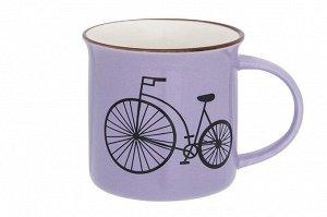 """Кружка 210 мл 11*7,5*7,5 см """"Велосипед"""" сиреневая"""