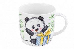 """Кружка 300 мл 11*8*7,5 см """"Панда с большим подарком"""""""