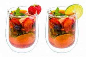 """Набор 2 стаканов 350 мл 9*9*11 см """"Crystal glass"""" с двойными стенками, стекло"""