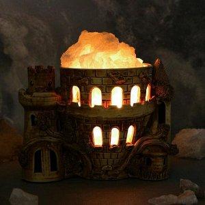 """Соляная лампа """"Замок"""" керамическое основание, 20 см, 2-3 кг"""