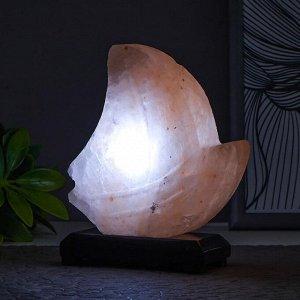 """Соляной светильник  """"Кораблик"""" LED (диод белый) USB гималайская соль 12,5*15*5,5см"""