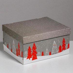 Складная коробка «Новогоднее поздравление», 31,2 х 25,6 х 16,1 см