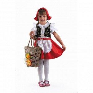 Карнавальный костюм «Красная Шапочка», текстиль, размер 26, рост 104 см
