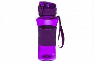 "Бутылка для воды 420 мл 8*7*20 см ""Фиолетовая"""