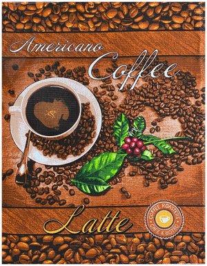 Р. Полотенце Кофе (Американо) 50х63  Вафельное