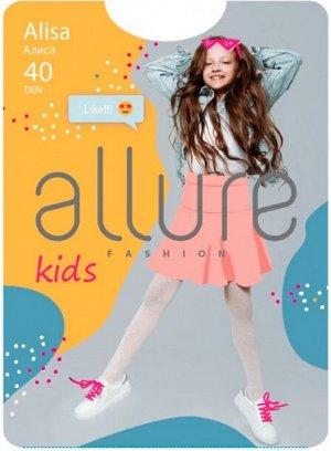 Колготки ALISA 40 ден с фактурным рисунком «горошек».