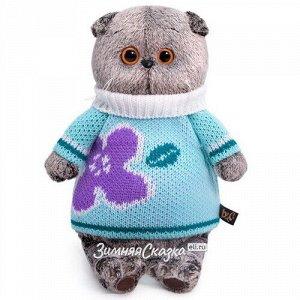 Мягкая игрушка Кот Басик в весеннем свитере 19 см (Budi Basa)