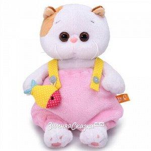 Мягкая игрушка Кошечка Лили Baby в меховом комбинезоне 20 см (Budi Basa)