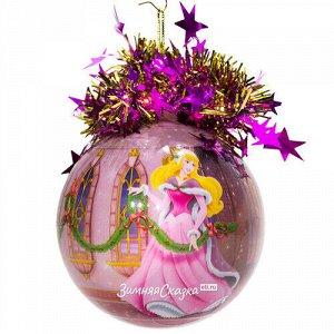 Пластиковый елочный шар Спящая Красавица Аврора 9.5 см (MOROZCO)