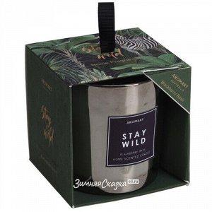 Ароматическая свеча в стакане Stay Wild - Ежевика и Базилик 8 см (Koopman)