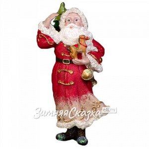 Елочная игрушка Санта Лесной с Лошадкой 12 см, подвеска (Holiday Classics)