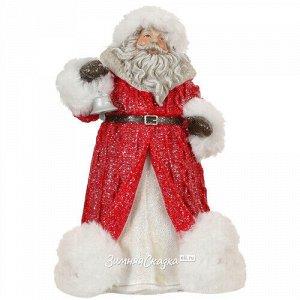 Статуэтка Дед Мороз с колокольчиком в красной шубке 20 см (Edelman)