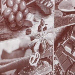 """Кухонный фартук """"Кофейный набор Сепия"""", 1000x600x0,5"""