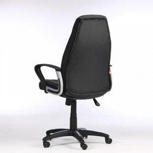 """Кресло игровое """"Inter"""", экокожа, черный/серый"""