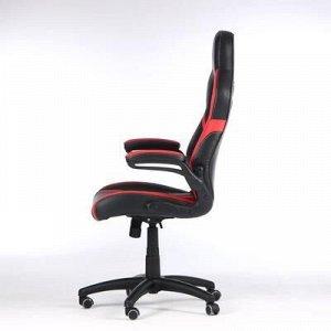 """Кресло игровое """"Rocket"""", экокожа, черный/красный"""
