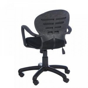"""Кресло """"Школьник"""", черное, с подлокотниками"""